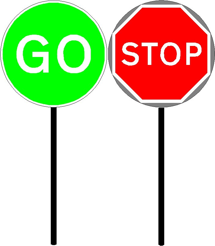 Stop And Go Signs | Clipart Panda - Free Clipart Images