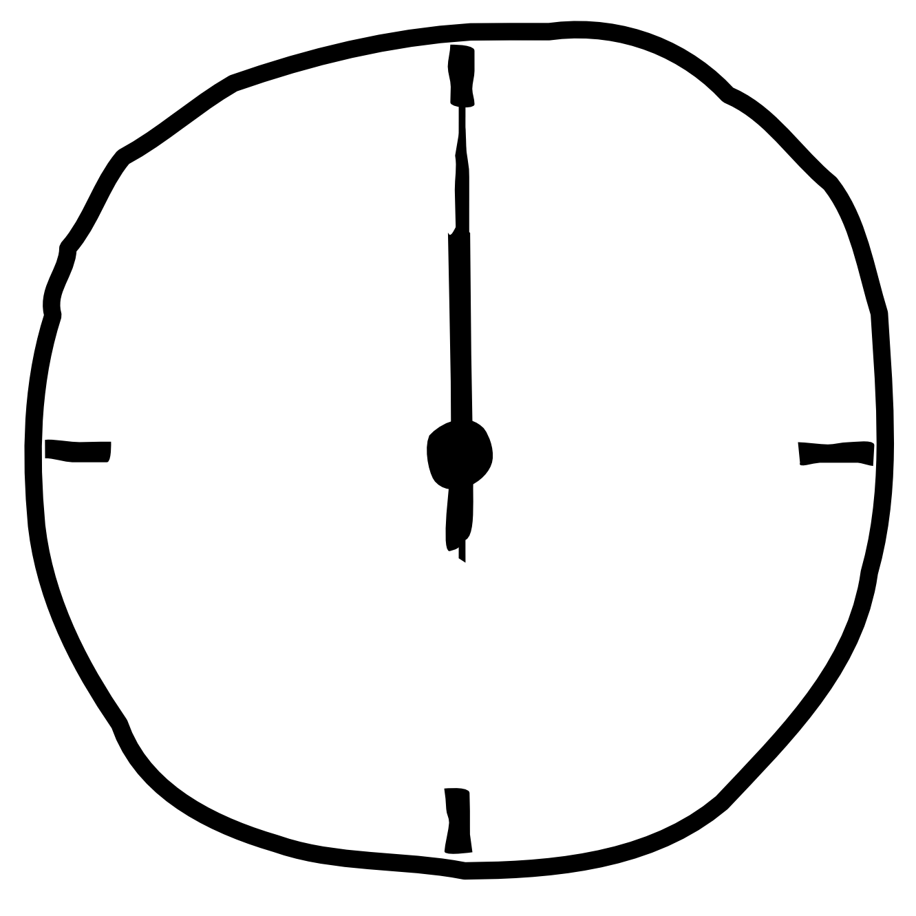Clipart of a Black and White Mantle Clock  Royalty Free
