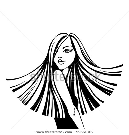 Hair Clipart Black And White | Clipart Panda - Free ...