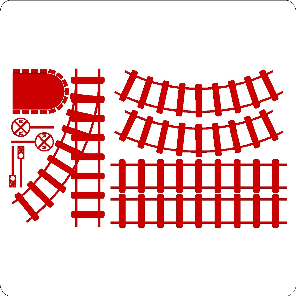 Train track wall decals