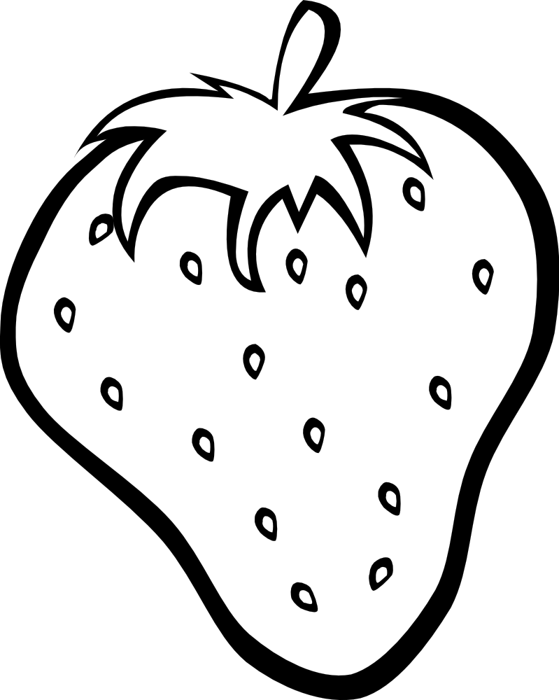Strawberry Clip Art Black And White | Clipart Panda - Free Clipart ... for Clipart Strawberry Black And White  45gtk