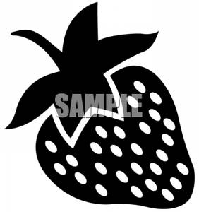 white black and white strawberry by clipart of a black and white black ...