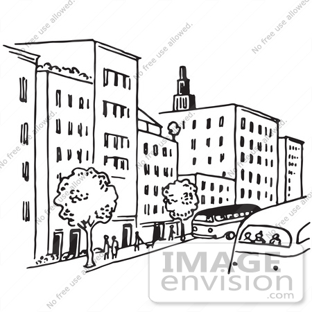 Clipart Of A City Street
