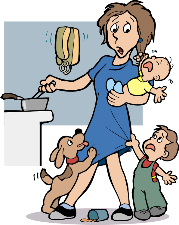 Stressed Mom Clip Art