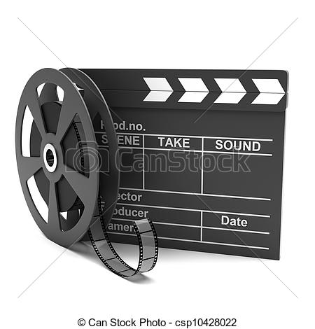 Movie Clapper And Film Strip Clipart Panda Free Clipart Images