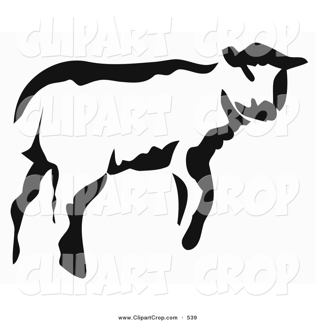 Calf Clipart Black And White | Clipart Panda - Free Clipart Images for Calves Clipart  45ifm