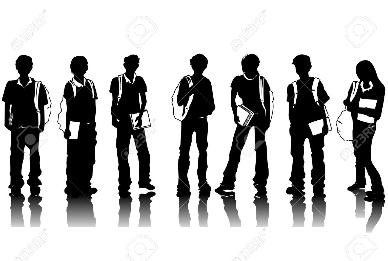 Student Silhouette Clipart #1