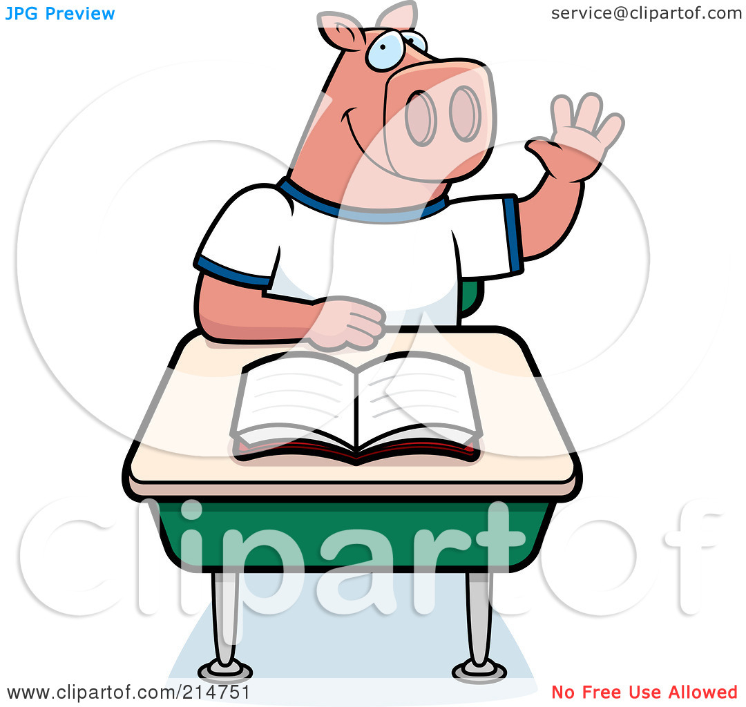 student-raising-hand-clipart-black-and-white-Royalty-Free-RF-Clipart ...