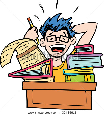 Student Studying - stock photo | Clipart Panda - Free ...