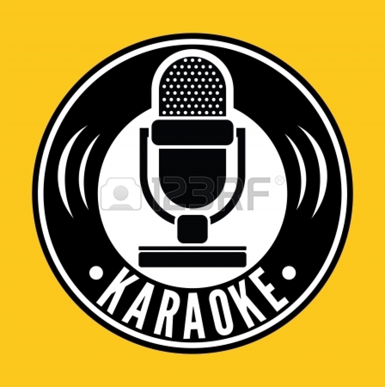Microphone for karaoke, 8108, Objects, download Royalty free vector ...
