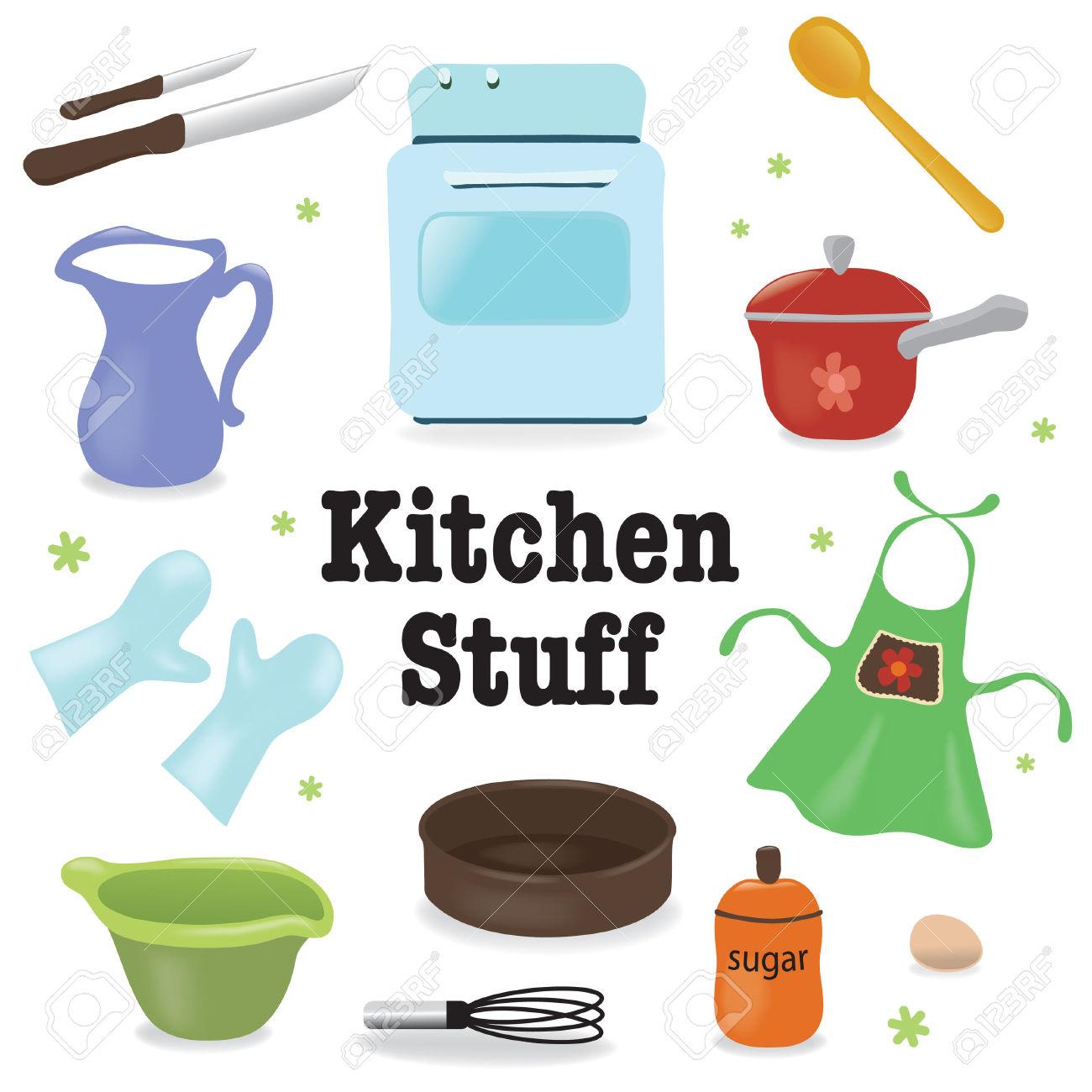 Kitchen stuff kitchen baking clipart panda free for Cosas de cocina