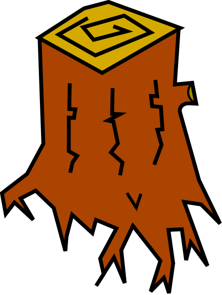 Tree stump clipart