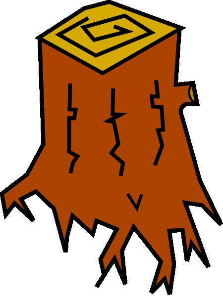 Tree stump clipart