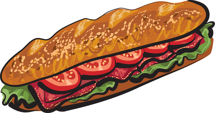 sub 20clipart clipart panda free clipart images Cartoon Sub Sandwich Meatball Sub Sandwich Clip Art
