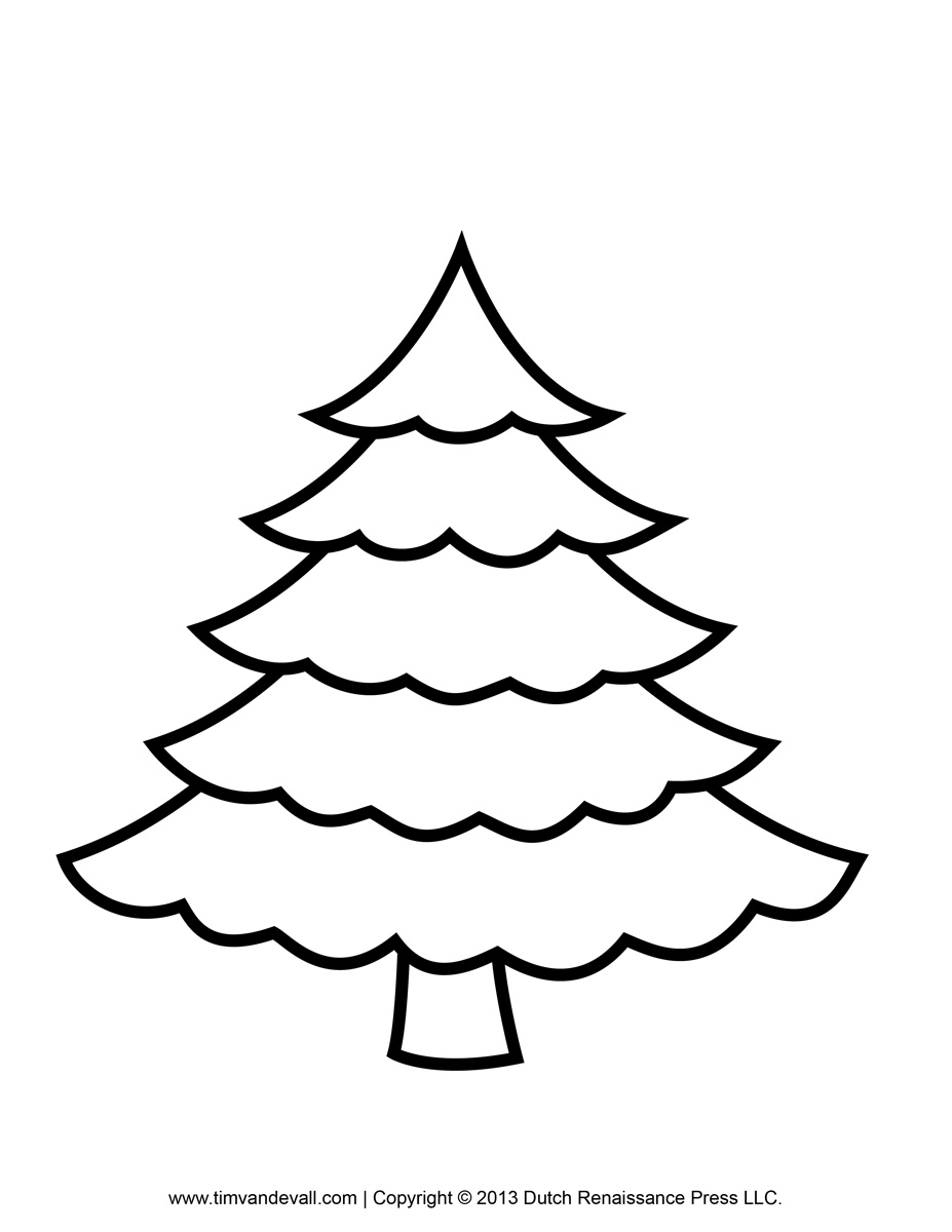Christmas Tree Clip Art Coloring In Addition Math Worksheets For Grade ...