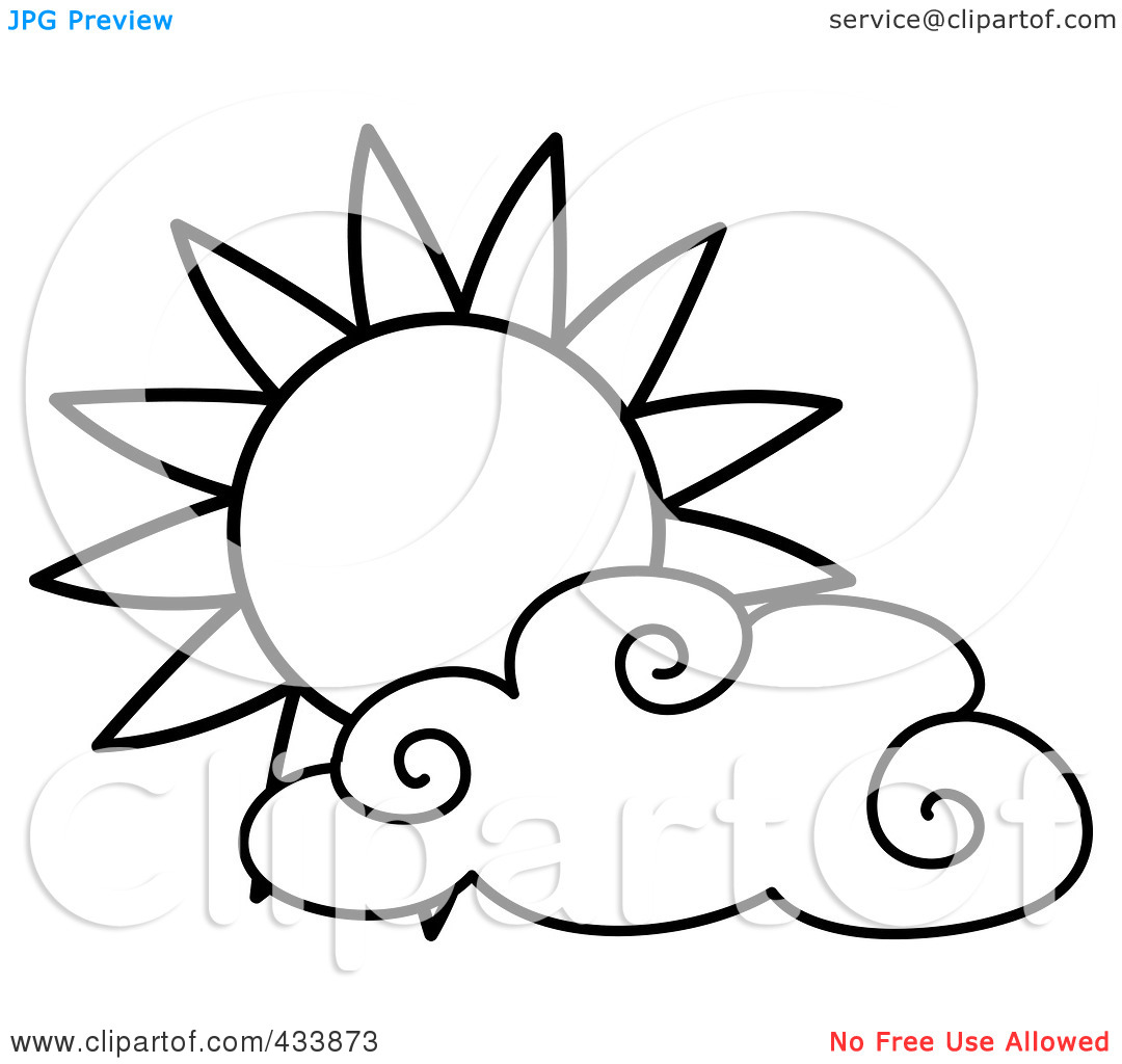 sun%20and%20clouds%20clipart%20black%20and%20white