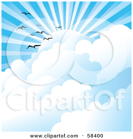 the sun through clouds clip art � cliparts
