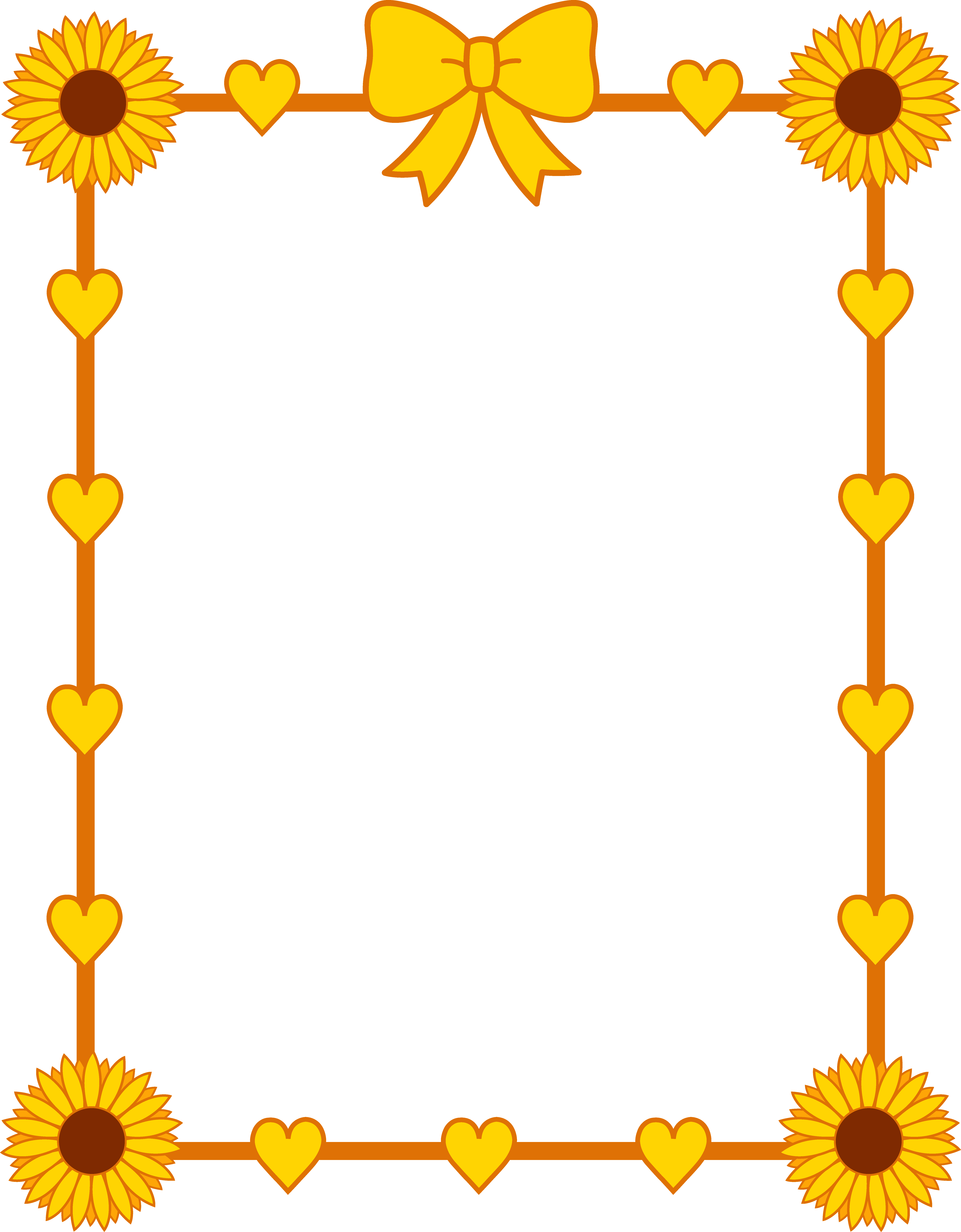 Yellow Sunflower Border Frame | Clipart Panda - Free Clipart Images