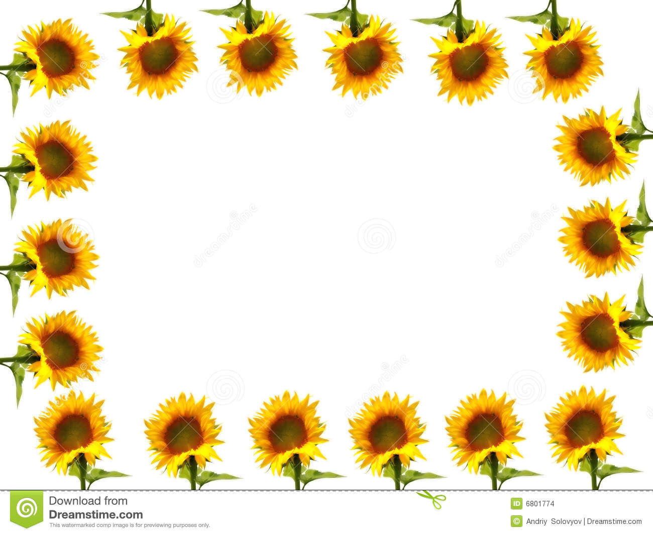 Yellow sunflower border | Clipart Panda - Free Clipart Images