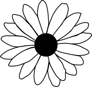 Sunflower Clipart Black And White Border