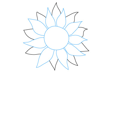 Sunflower Pencil Drawing | Clipart Panda - Free Clipart Images