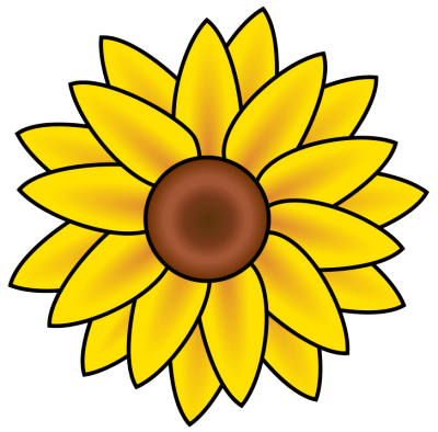 Sunflowers Clipart Black And White | Clipart Panda - Free Clipart ...