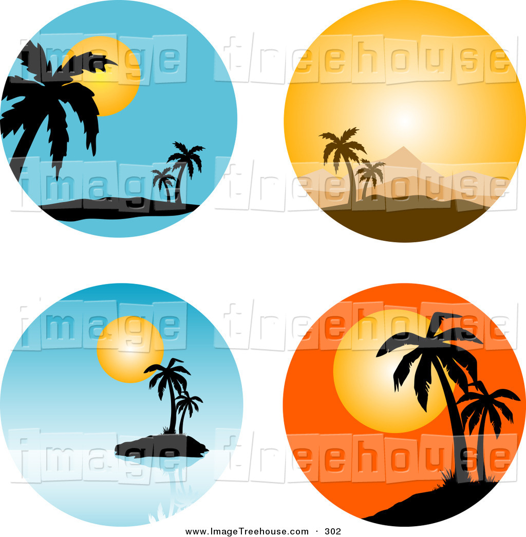 Palm Tree Sunset Clipart | Clipart Panda - Free Clipart Images