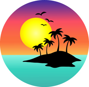 Clip Art Sunset Clipart palm tree sunset clipart panda free images