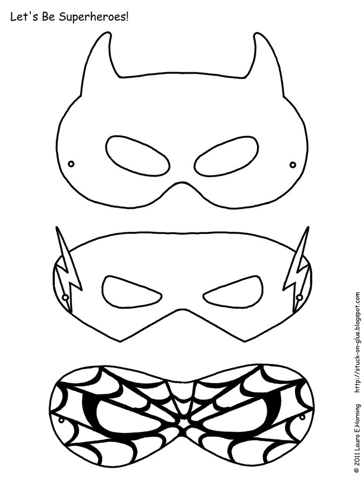 Super Hero Mask Template | Clipart Panda - Free Clipart Images