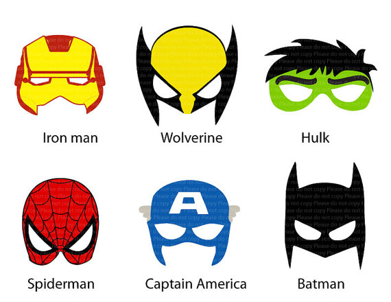 image regarding Superhero Printable Masks titled Tremendous Hero Mask Template Clipart Panda - Absolutely free Clipart Pictures