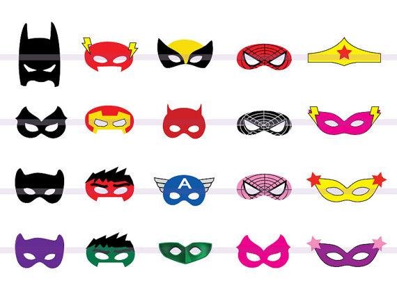 super hero mask template clipart panda free clipart images