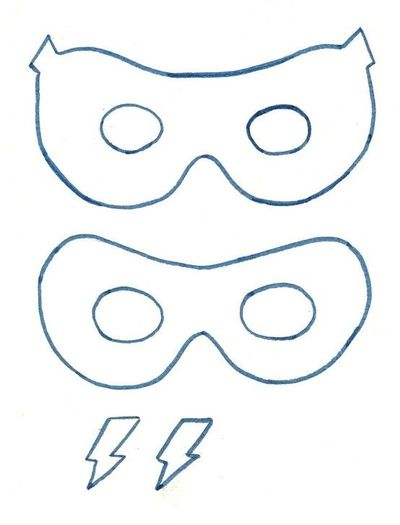 Superhero mask template | Clipart Panda - Free Clipart Images