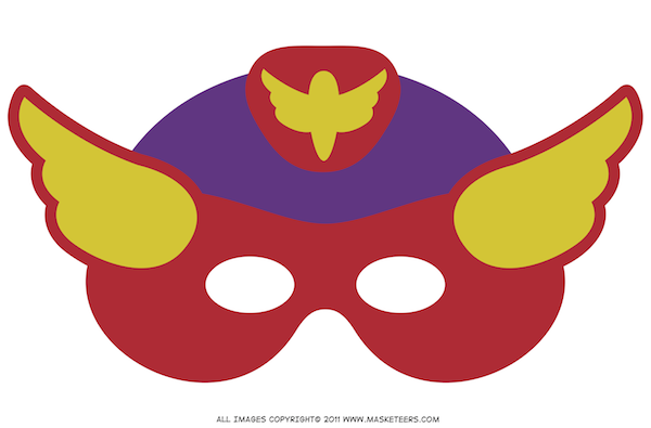 Printable superhero mask