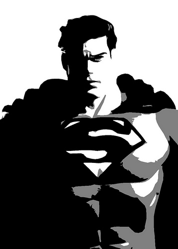 superman black and white clipart panda free clipart images