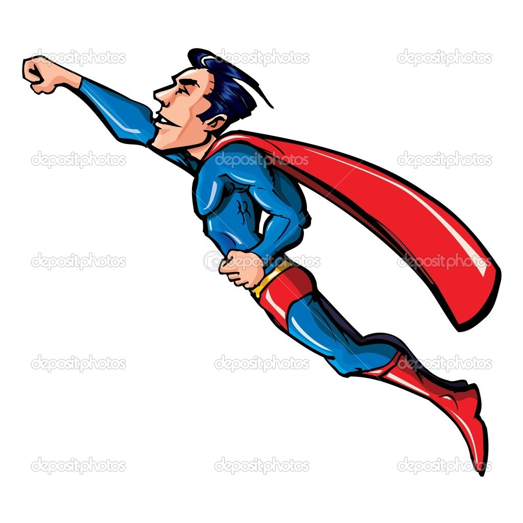 clipart superman flying - photo #4