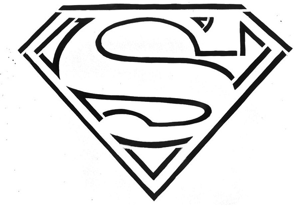 -coloring-pages-superman_logo_coloring_pages_free_superman_coloring ... Man Of Steel Logo Coloring Pages