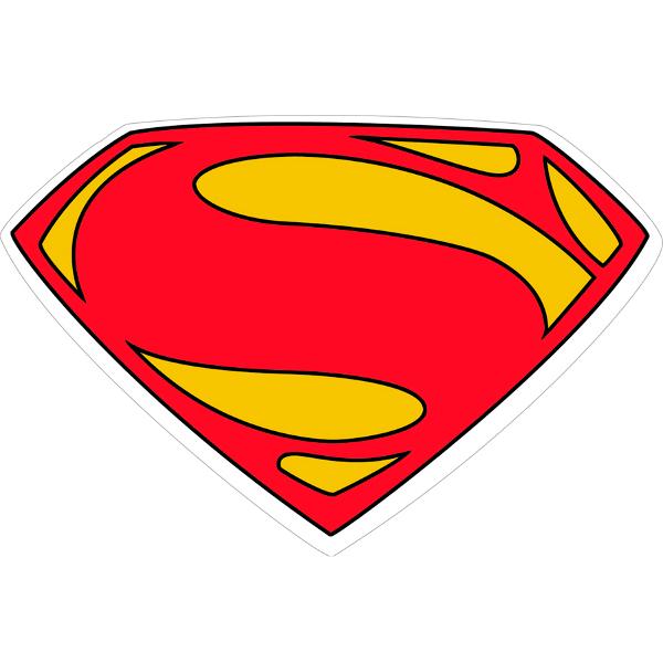 superman logo man of steel vector