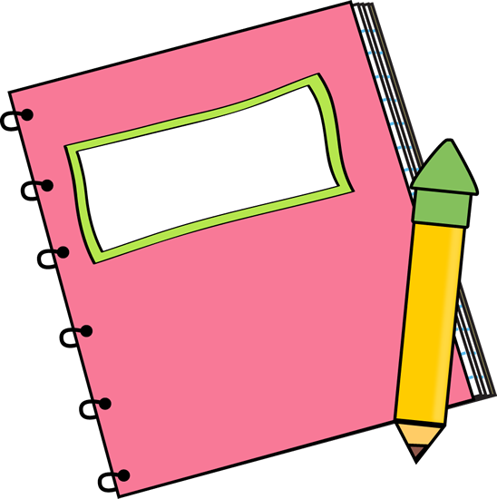 Pencil And Notebook Clipart | Clipart Panda - Free Clipart Images
