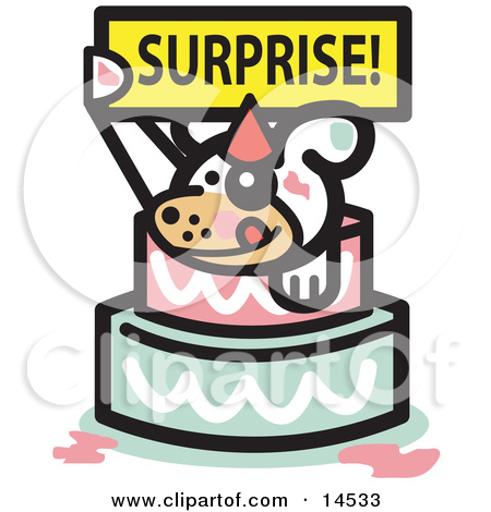 Man Popping Out Of Birthday Cake