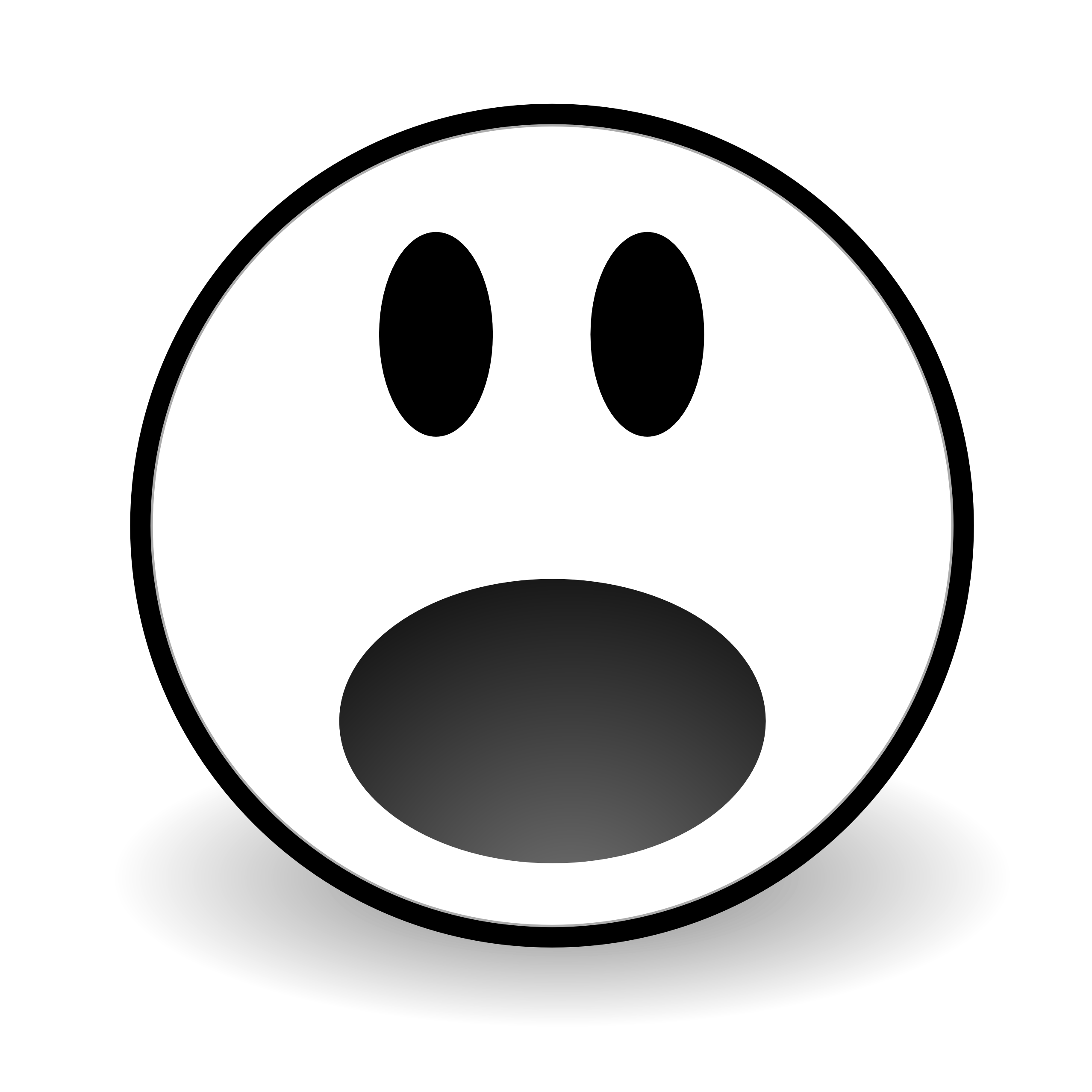 Scared Face Line Drawing : Surprise clipart panda free images