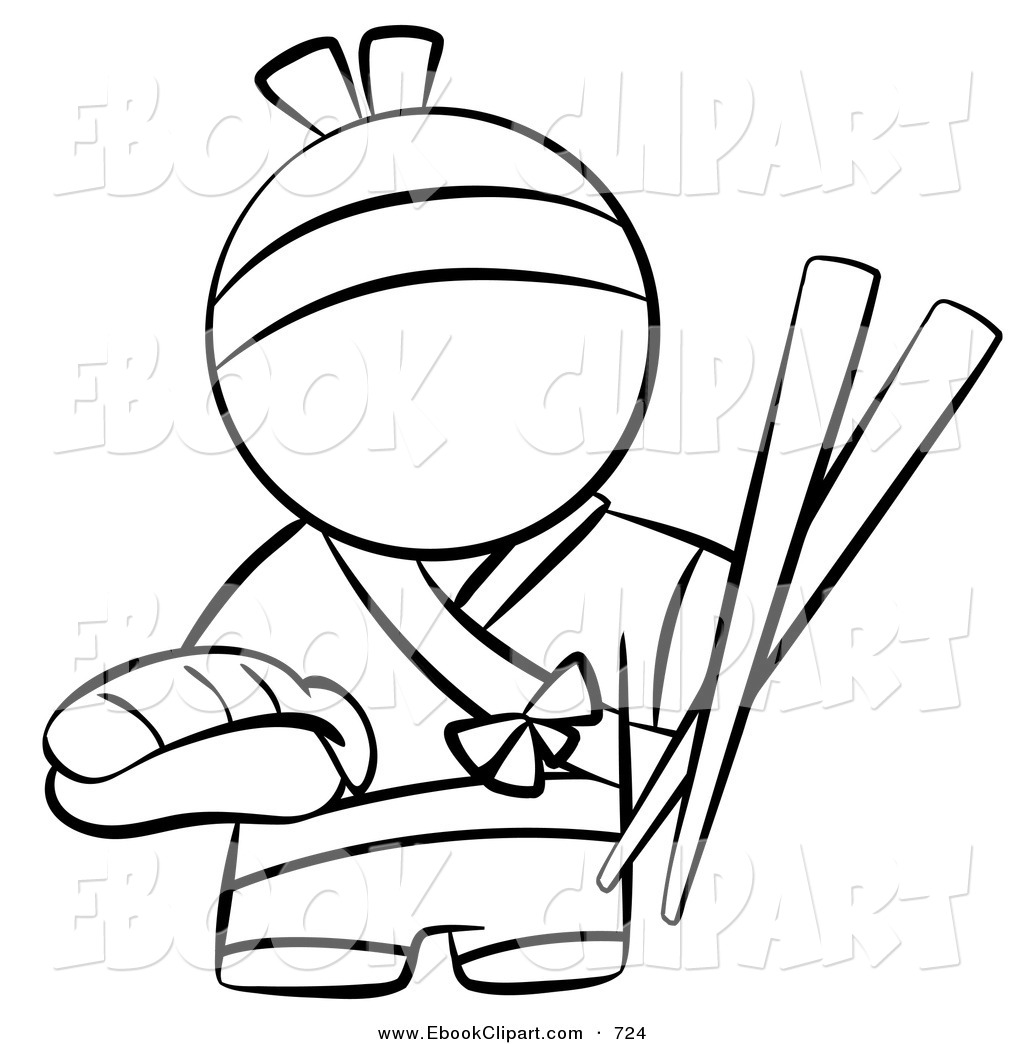 sushi-clipart-vector-clip-art-of-a-black-and-white-human-factor ...