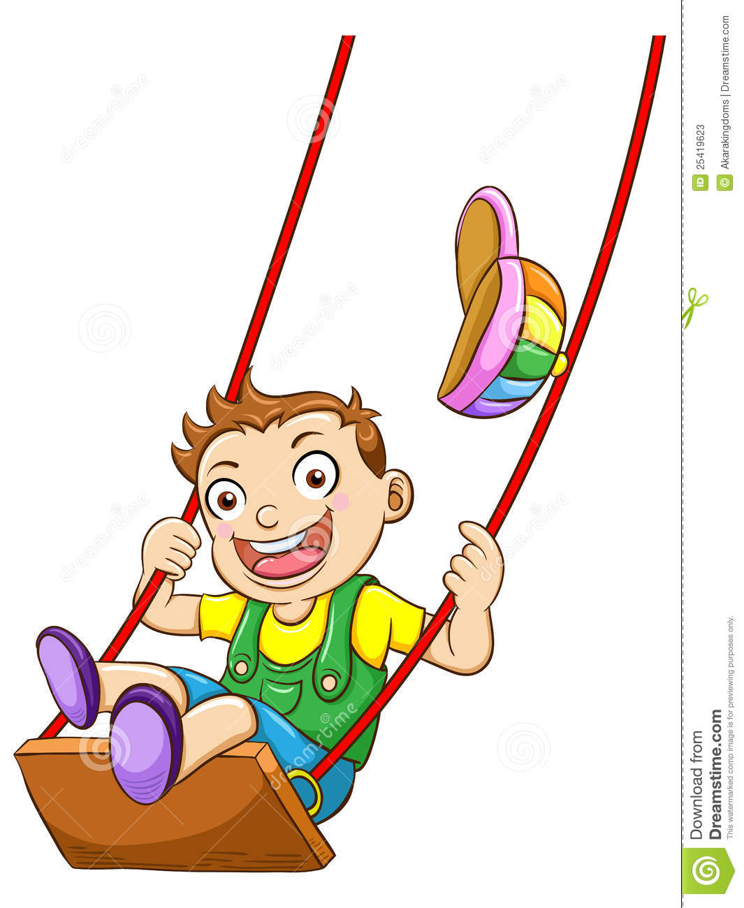 how to draw a kid on a swing