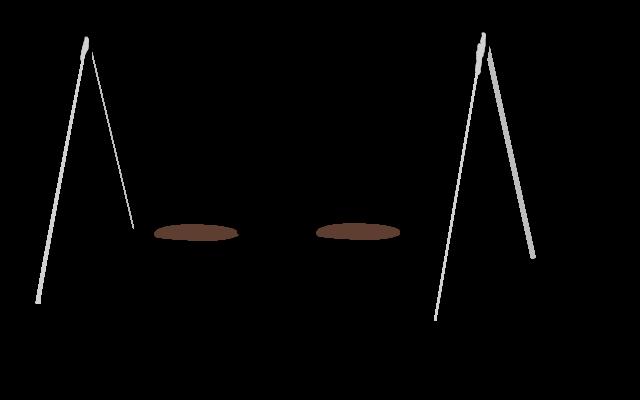 Swingset Clipart Black And White