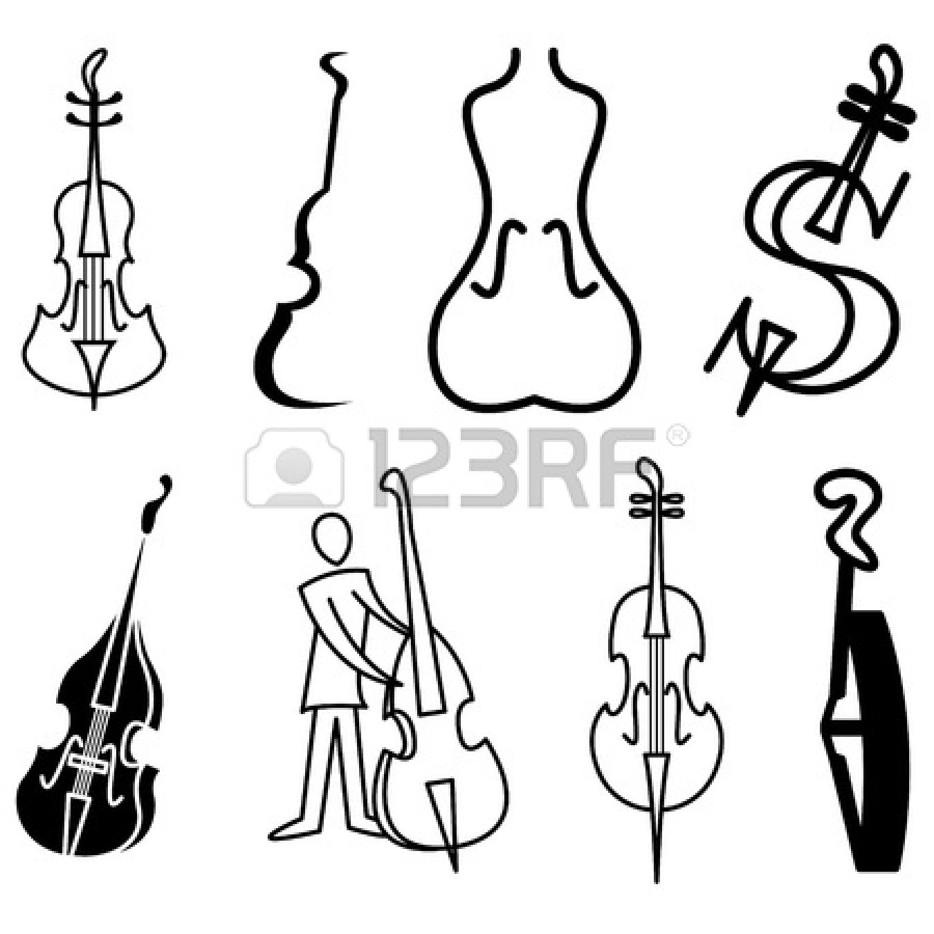 free cello coloring pages - photo#36