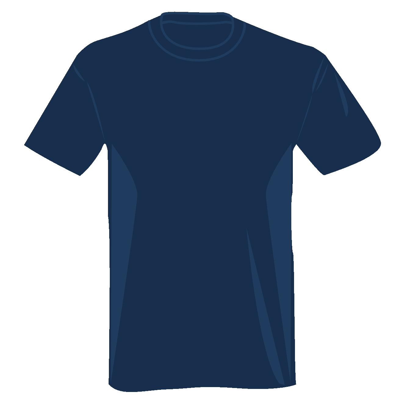 T shirt clip art sports clipart panda free clipart images for Navy blue t shirt template