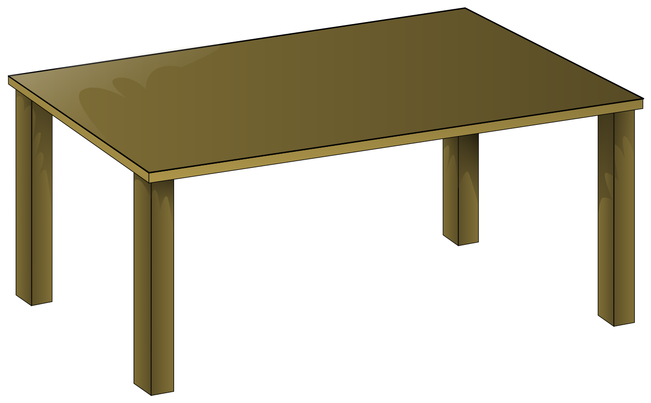 Table and chairs clipart top view table clip art anonymous wooden
