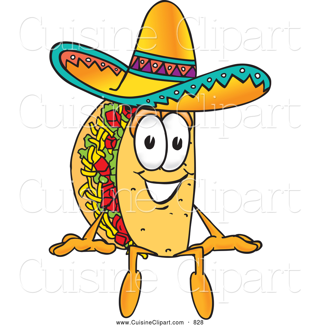 Cartoon Characters Mexican : Taco clipart panda free images
