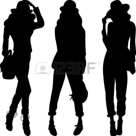 tall-pumpkin-outline-clip-art-22719200-set-4-silhouette-of-fashion ... Tall Pumpkin Outline Clip Art