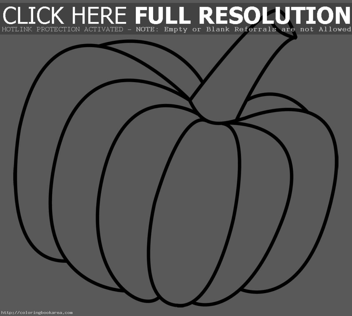 Blank Pumpkin With Leaves Coloring coloring page of children