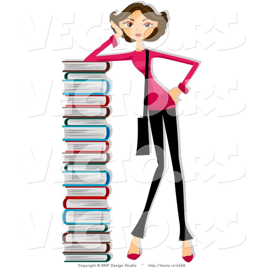 tall stack of school books | clipart panda - free clipart images